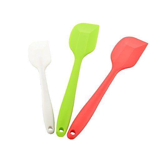 Vapsint New Arrival Mixer Colors Flex 3 Pieces Heat Resistant Silicone Spatula Set Nonstick Flexible Rubbe Heat