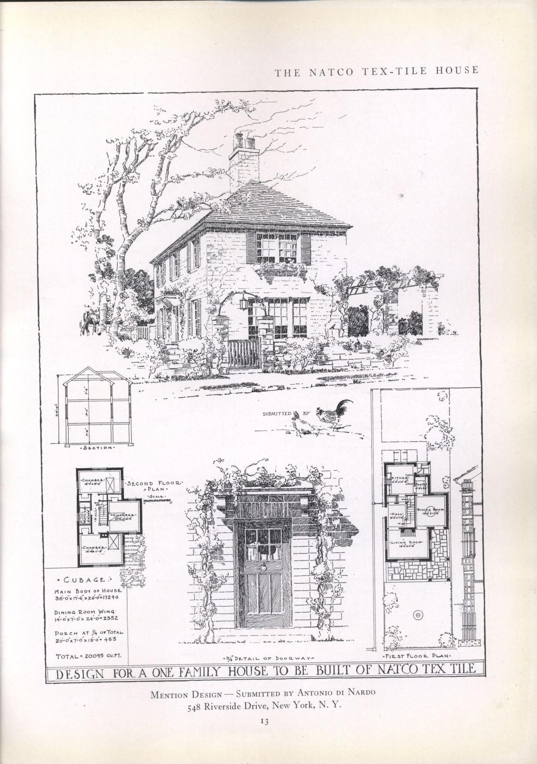 The Natco Tex Tile House How To Plan Vintage House Plans House Floor Plans