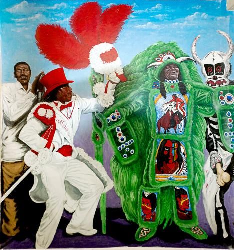 Jazz Murals The Mardi Grads Indians New Orleans Jazz Museum At