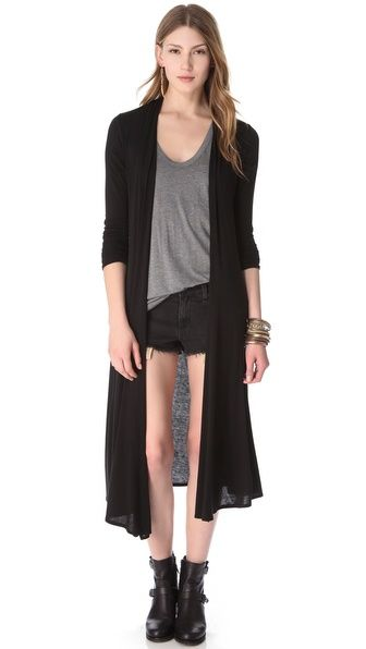Howwww cute is this long cardi? Riller & Found Norma Extra Long ...
