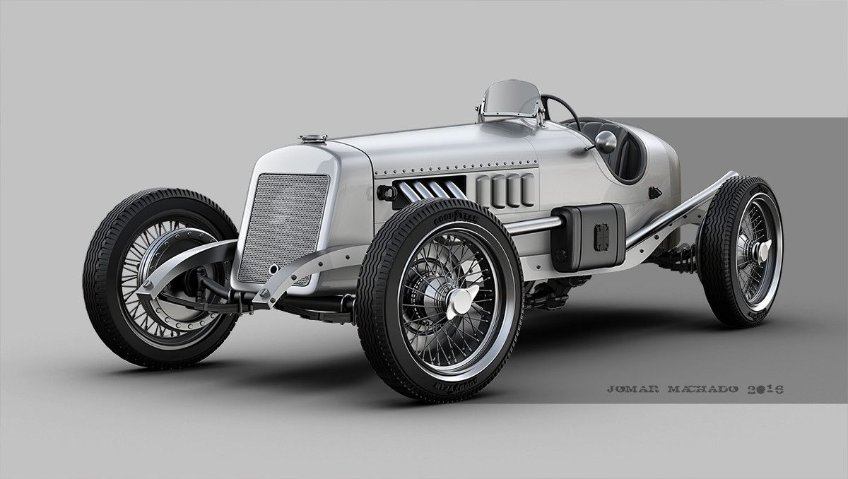 car Vintage photo race
