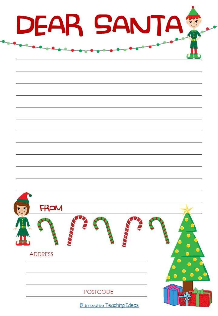Dear Santa Letter Template Freebie u2014 Literacy Ideas Nails art - santa letter template