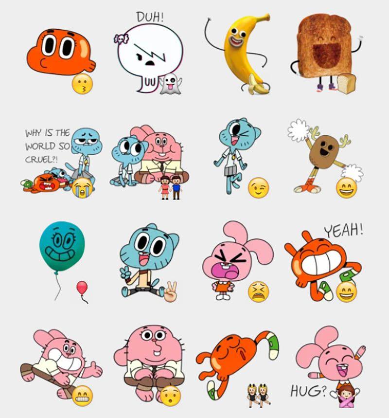 Gumball Stickers Set Telegram Stickers Incrivel Mundo De Gumball Adesivos Desenhos