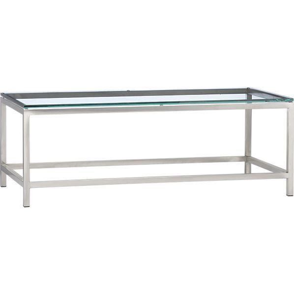 Era Rectangular Glass Coffee Table Living Room Furniture - Rectangular glass side table