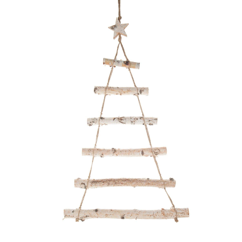 Geen plek voor een kerstboom of als extraatje in jouw feestversiering, dit Boompje met Touw schors van berkeboom.Afmeting: 80 x 50 cm - Boompje met Touw