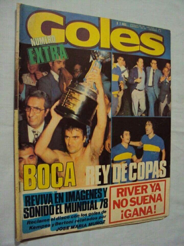 Boca es el último argentino campeón invicto de la Copa Libertadores de América. Edición 1978.