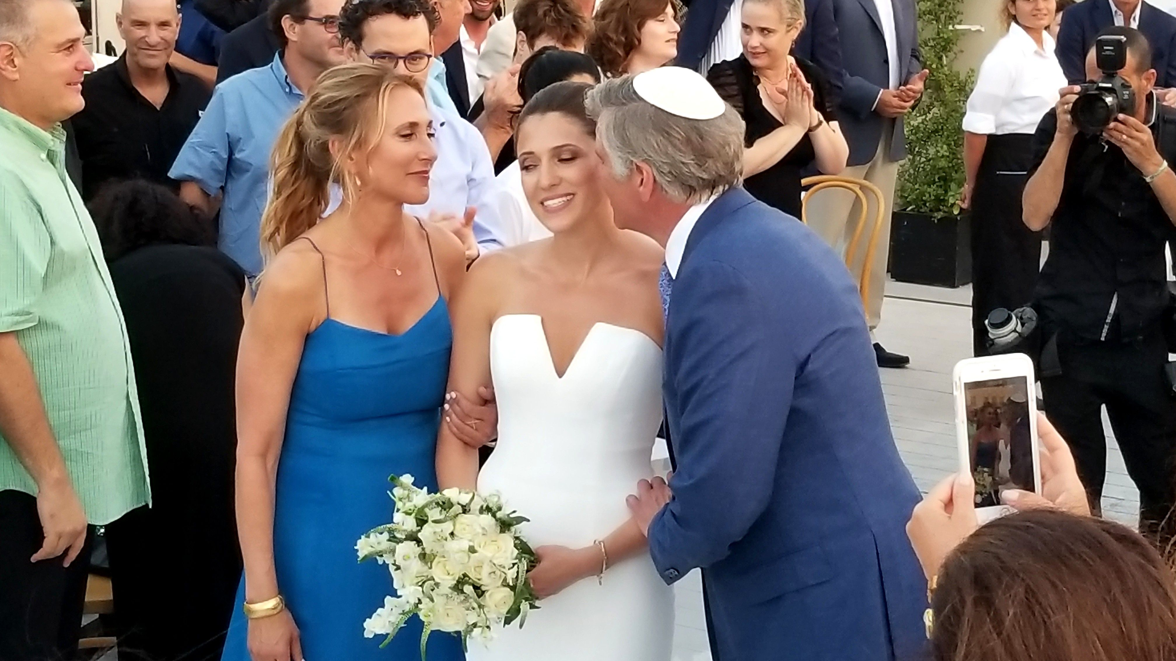 Proud Mom & Dad before Lauren takes to the Chuppah in Tel Aviv ...