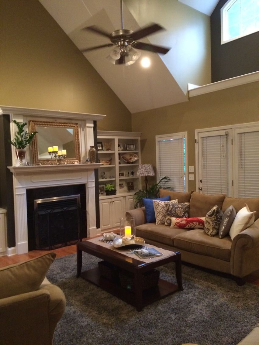 Sherwin Williams Burlap And Urban Bronze Tan Living Room Small Living Room Decor Furniture