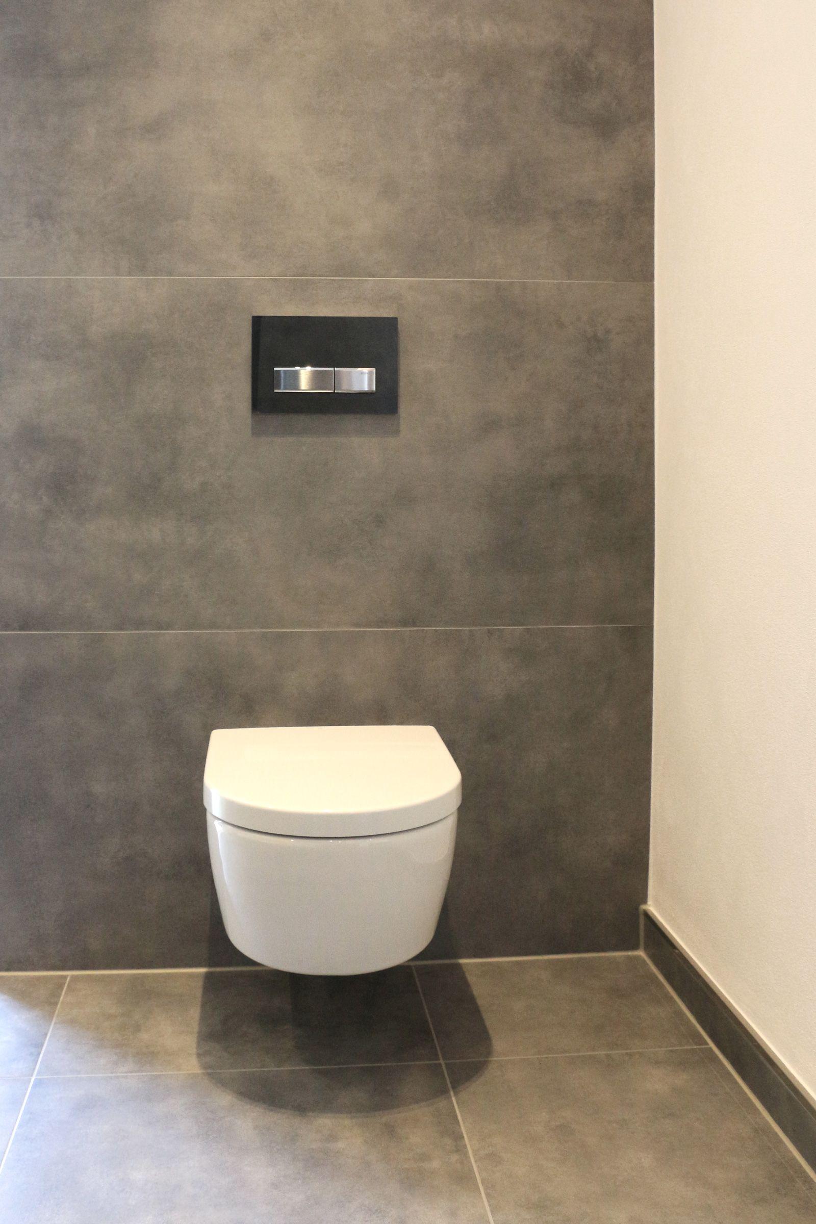 Betonoptik Klassisch Modern Fliesen Tiles Tegel Badezimmer Bathroom Badkamer Toilette Druckerplatte Wc Gastewc Ba Bodenfliese Betonoptik Wc Fliesen