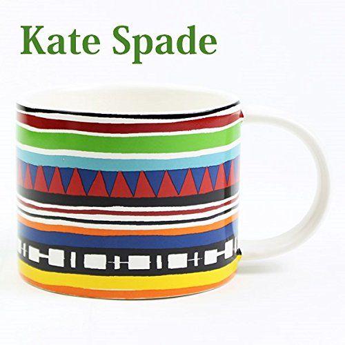 ケイトスペードサタデー Kate Spade SATURDAY マグカップ マグ SATURDAY MORNING MUG ストラータストライプ ネイビー/イエロー MULTI