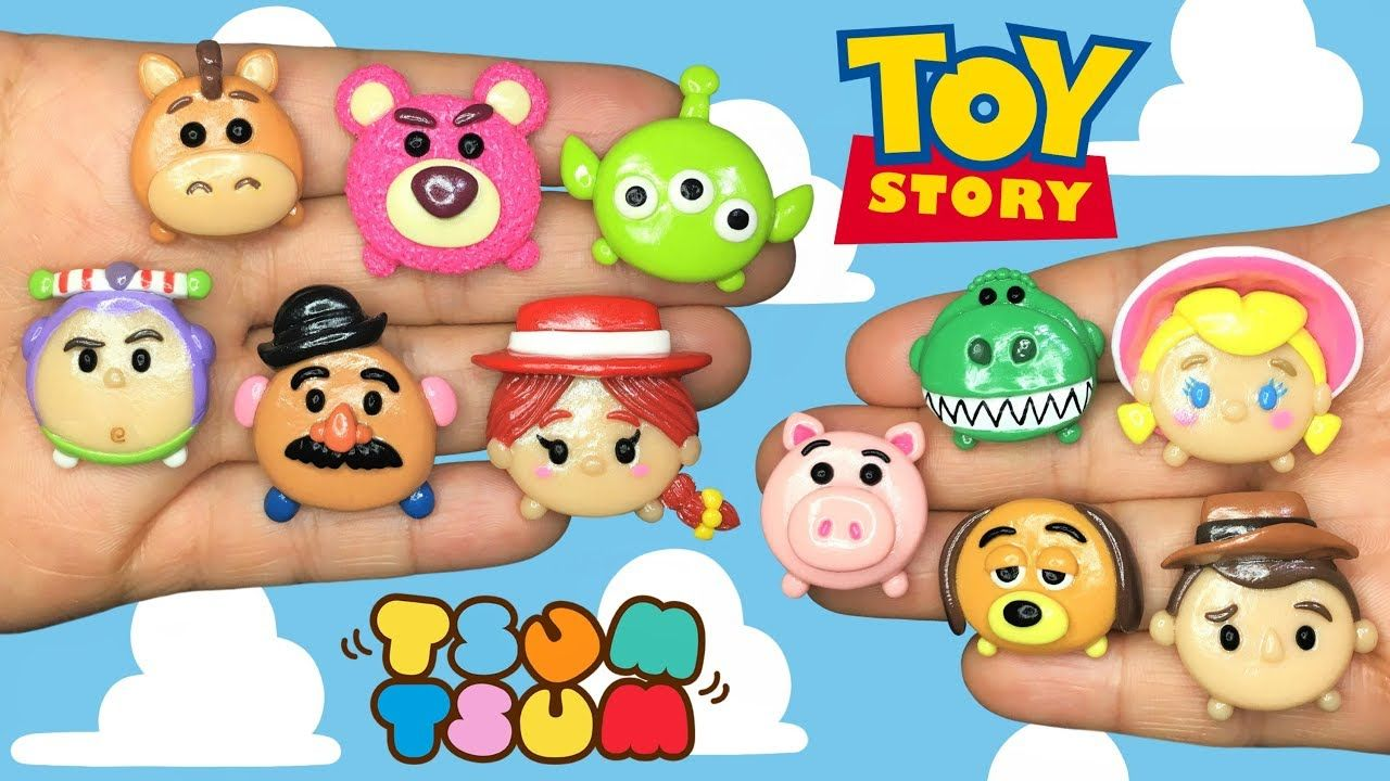 TOY STORY TSUM TSUM! Polymer Clay Tutorial - YouTube #miniaturetoys