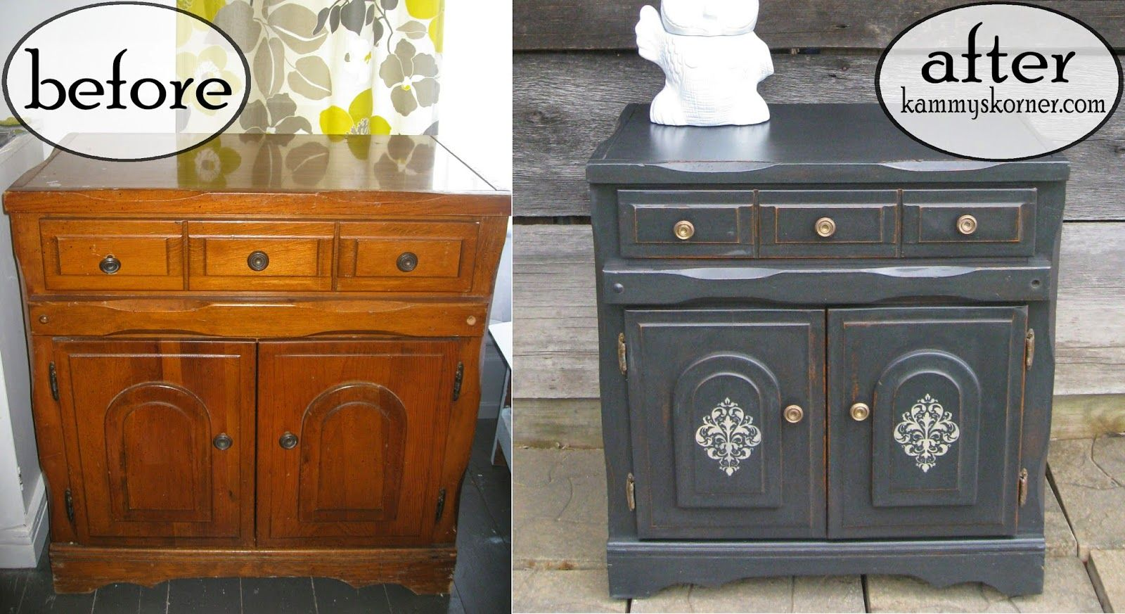 Charcoal Distressed Furniture