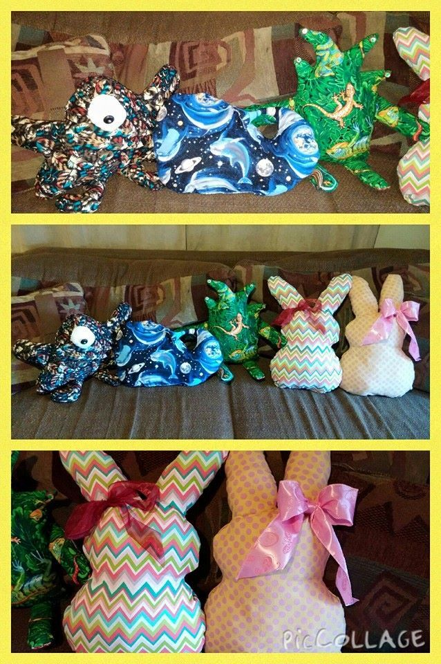 Grandmas homemade pillow pets made them for easter gifts for made them for easter gifts negle Images