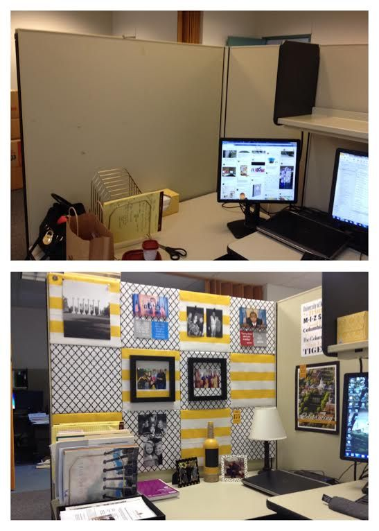 Temporarily moving into a cubicle required a little - Work office decorating ideas pictures ...