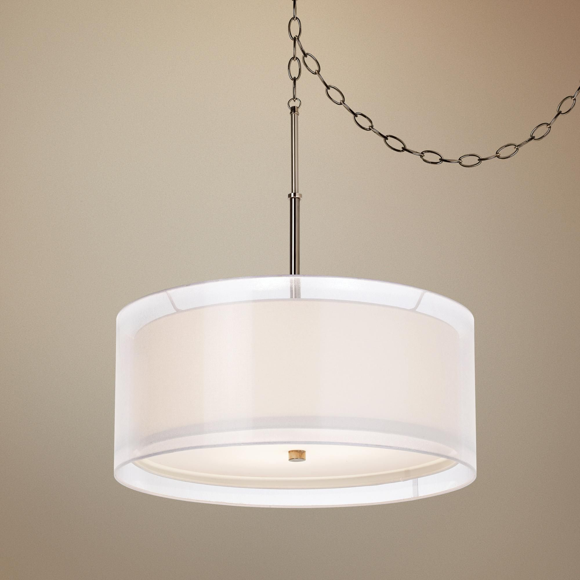 Seeri Double Shade Swag Pendant Light K4776 Lamps Plus Swag Pendant Light Swag Light Pendant Light