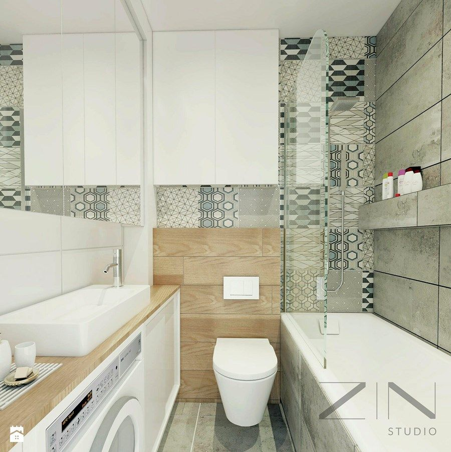 Aranżacje Wnętrz łazienka Mieszkanie Jaworzno Mała