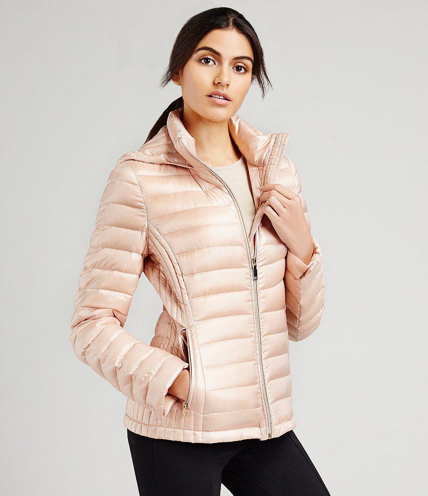 Blush Calvin Klein Horizontal Puffer Packable Down Jacket Odezhda [ 1020 x 880 Pixel ]
