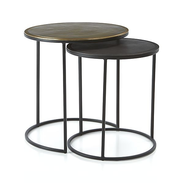 Best Knurl Nesting Accent Tables Set Of Two Reviews Crate 400 x 300