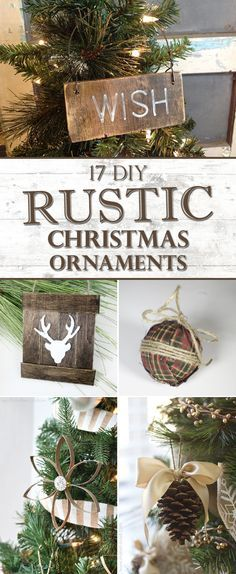17 Diy Rustic Home Decor Ideas For Living Room: 17 Amazing DIY Rustic Christmas Ornaments