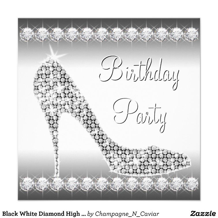 Shoes Leopard Gold Womans 50th Birthday Invitation | Let\'s party ...