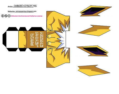 JOLTEON  POKEMON  Pokmon Papercraft and Paper toys