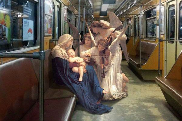 Artist Alexey Kondakov is incredibly creative. For his series, The Daily Life of Gods, he took figures from classic art and put them into scenes from our modern day world. His artwork is amazing, check it out below: