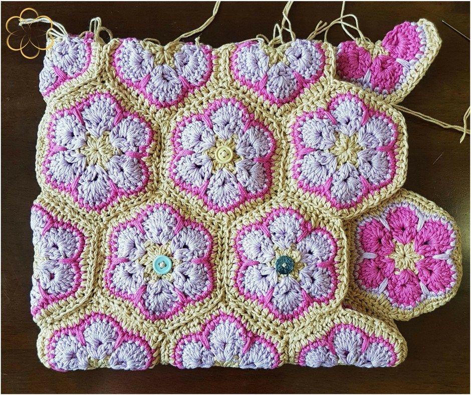 Reversible Crochet African Flower Bag Free Pattern Crochet