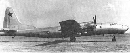 The Tupolev Tu-80 was a Soviet prototype for a longer-ranged version of the Tupolev Tu-4 bomber built after World War II
