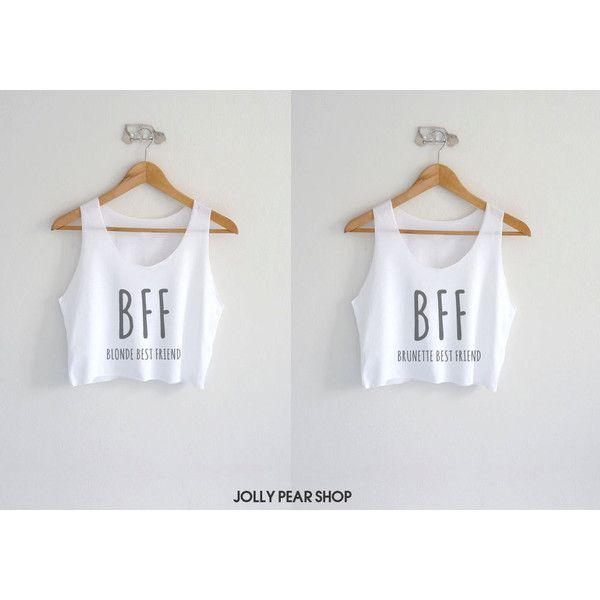 1ff4d2907 Best Friend Tank Top Crop Top Bff Blonde Brunette Best Friend Shirt... (