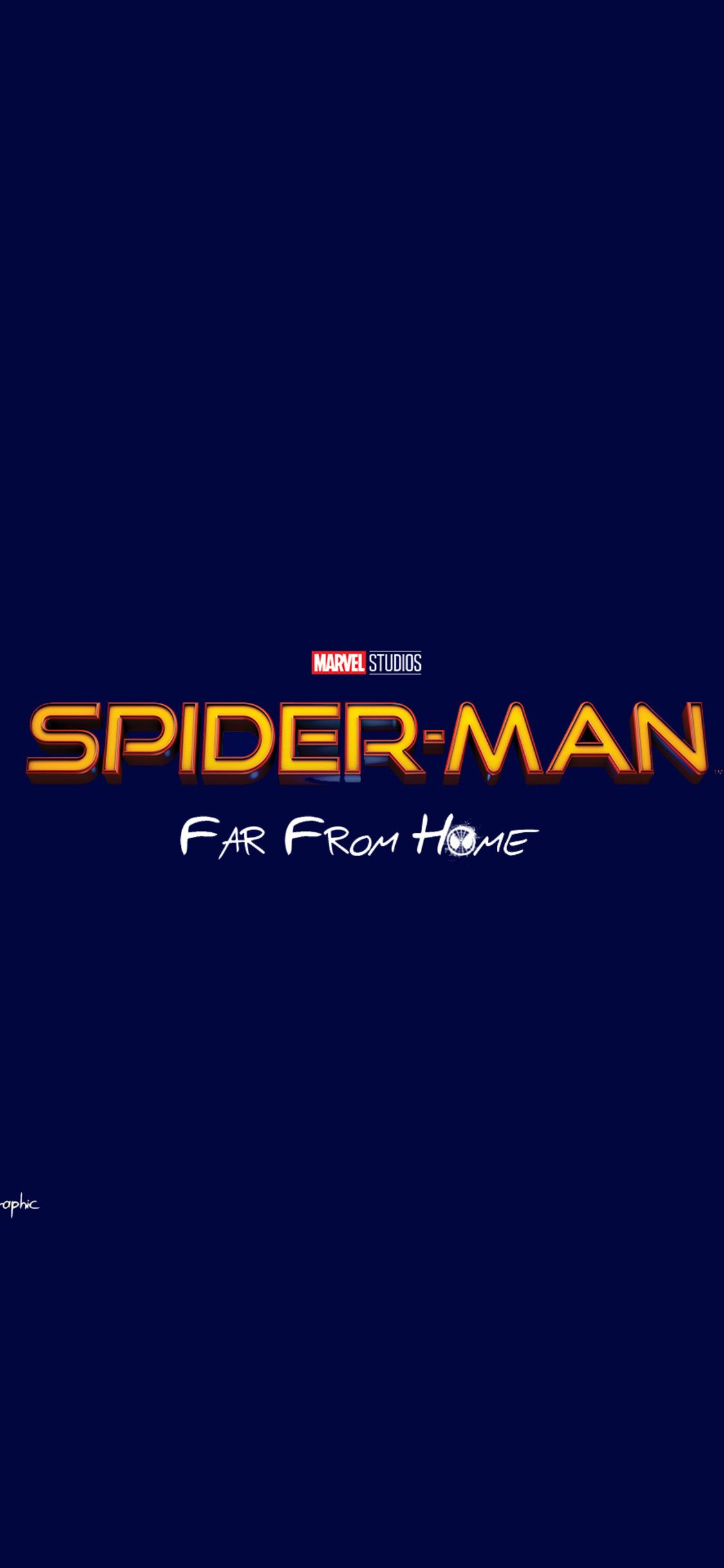 1125x2436 Spiderman Far From Home Movie Logo Iphone Xs