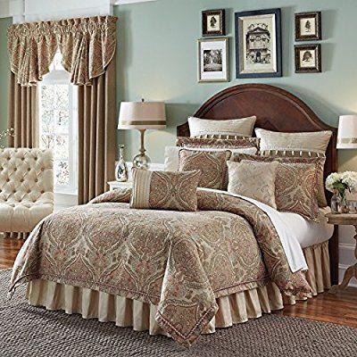 4 Piece Luxurious Jacquard Pattern Comforter Set Cal King Size