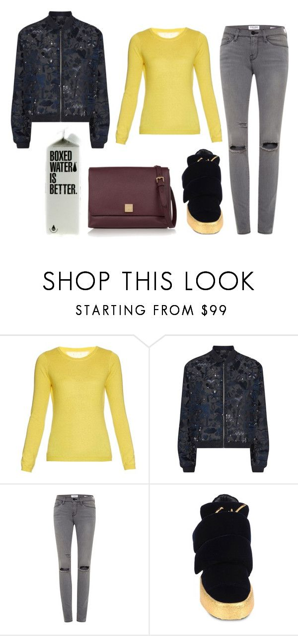 """""""so simple,as always"""" by marija-colic7 ❤ liked on Polyvore featuring RED Valentino, Markus Lupfer, Frame Denim, Giuseppe Zanotti and Mulberry"""