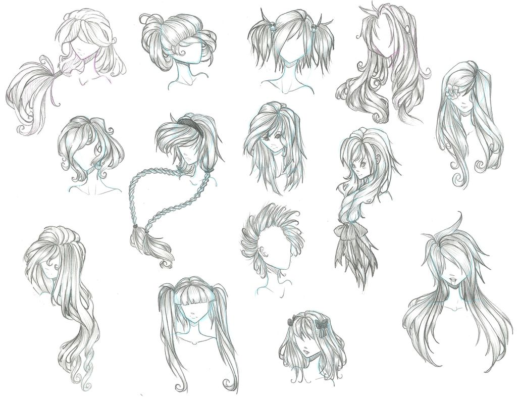 Some More Manga Hair Styles Anime Hair Anime Character Drawing