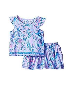 6a6593594 Amazon.com: Lilly Pulitzer Kids Baby Girl's Opal Set (Toddler/Little Kids/Big  Kids) Lilac Verben Fruity Monkey Clothing Set: Clothing