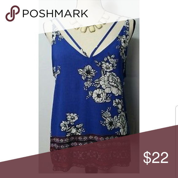 Chloe & Katie Floral-Print Cropped Tank (With Images