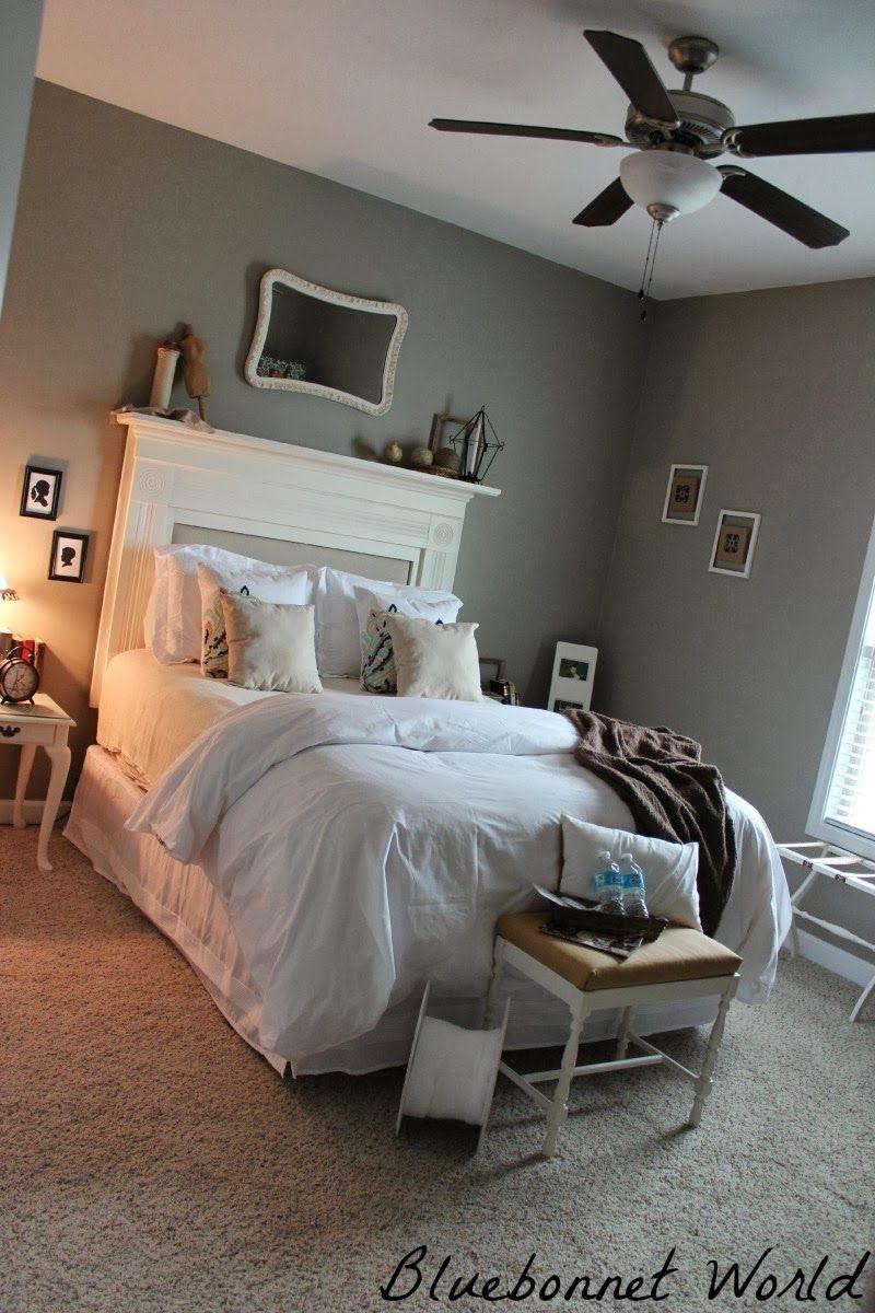 guest room #fireplace mantle #headboard #fireplace mantle headboard