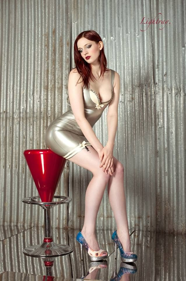 Customer Photo - A fantastic image of Mimi Uniquehorn in Westward Bound's Damsella Latex Dress. Remember to tag your photos so that we can find them and share on our social media pages. www.westwardbound.com  Photographer : Lightray.
