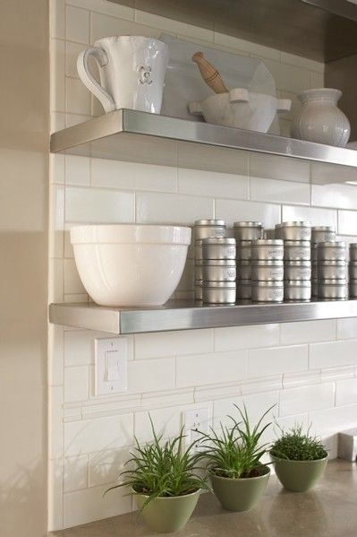 Metal Kitchen Shelf Arts And Crafts Cabinets Floating How To Makes For Open Space Clean Look Custom