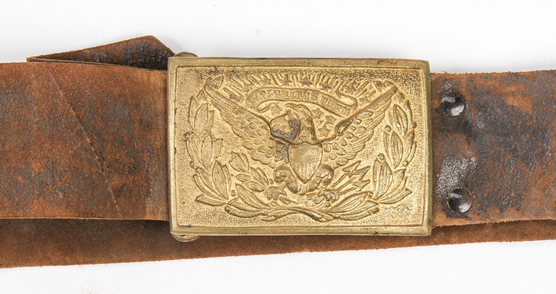 Lot 827: Civil War or Post Indian War Staff Sword, Belt