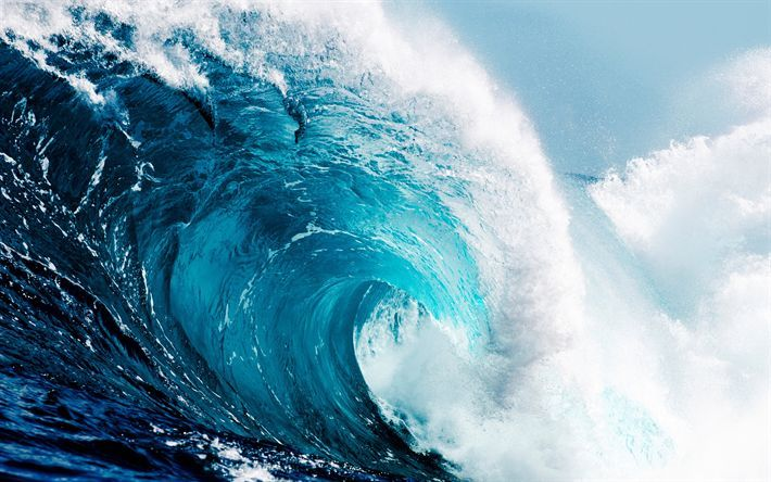 Download Hintergrundbild Von Tsunami Grosse Welle Meer Wellen Wasser Sea Waves Ocean Blue Ocean