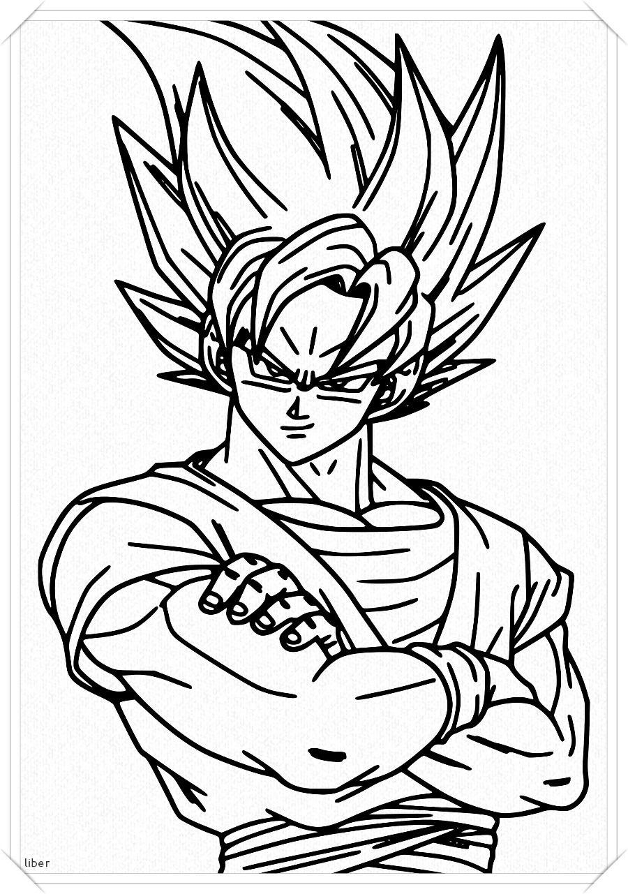 Los Mas Lindos Dibujos De Goku Para Colorear Y Pintar A Todo Color Imagenes Prontas Para Descargar E Imp Dibujo De Goku Como Dibujar A Goku Personajes De Goku