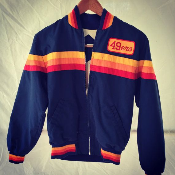 49ers Patch on a vintage jacket | bay area sports swag | Vintage