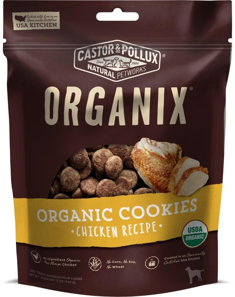 Castor And Pollux Organix Chicken Dog Treats Organic Dog Treats