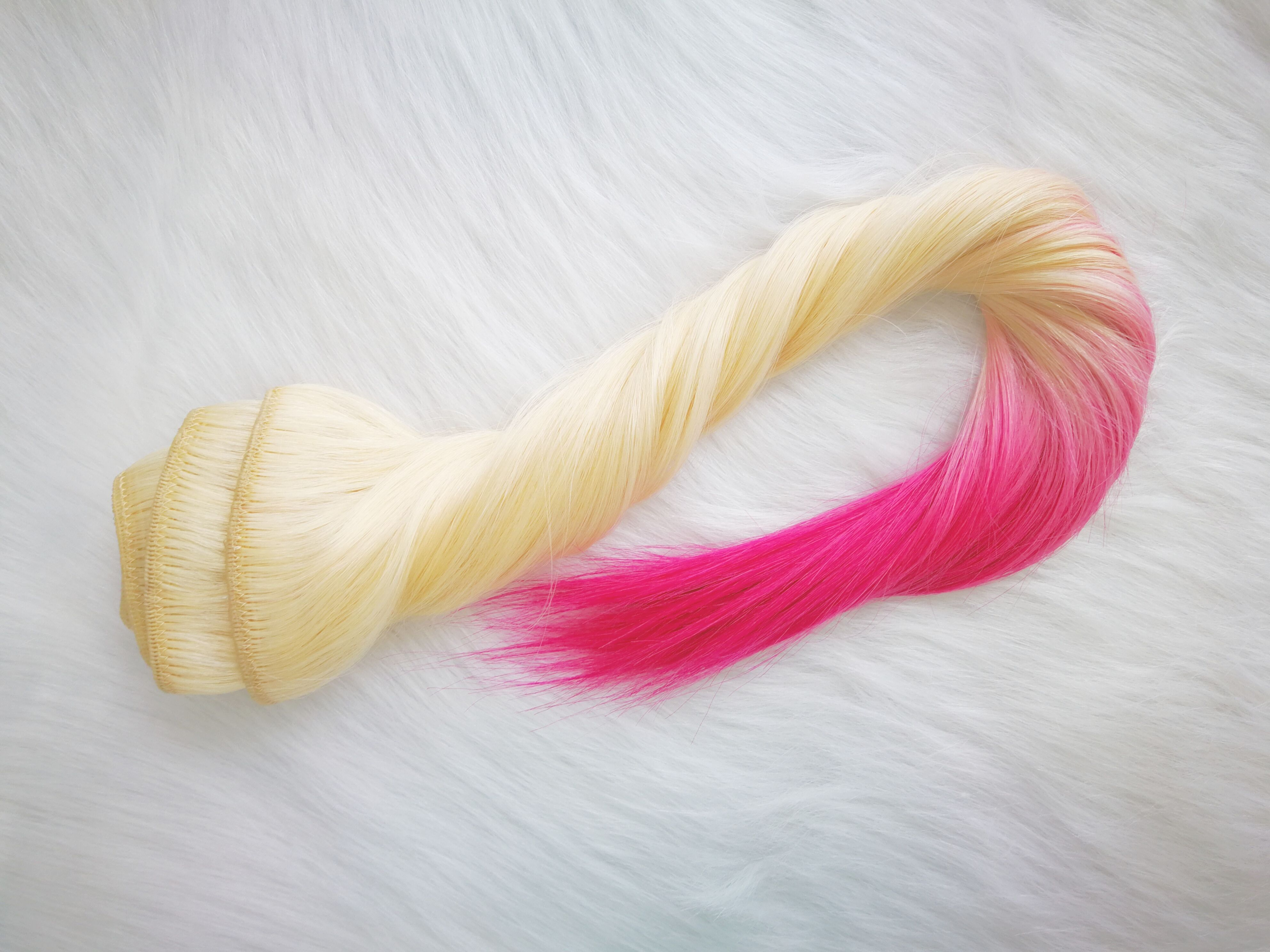 Luxury Remy Hair Clip In Ombre Blonde And Pink Magic Box Of Luxury