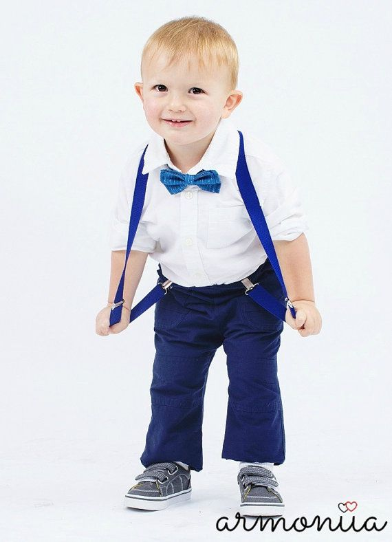 royal blue baby suspenders suspenders and bow tie Baby suspenders blue suspenders set ringbearer bow tie and suspenders blue bow tie