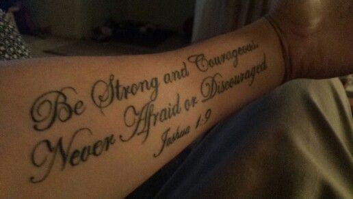 Joshua 1 9 Tattoo Christian Tattoo Joshua 19 Ink Tattoos