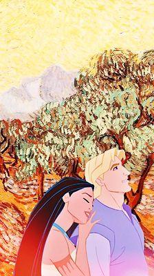 Disney meets Van Gogh - Pocahontas