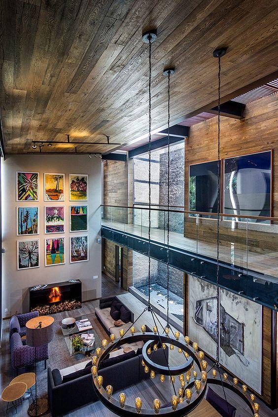 Gracias a una estrecha relación con la arquitectura y con el entorno, Estudio Felguérez logró un diseño interior para el buen vivir.: