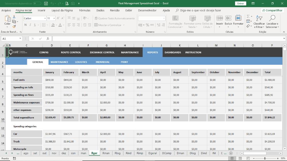 Fleet Management Spreadsheet Excel Luz Spreadsheets with