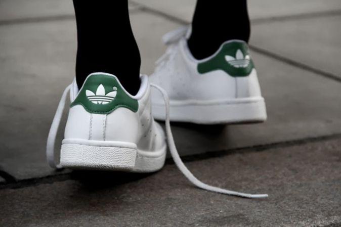 adidas superstar wit met groene strepen